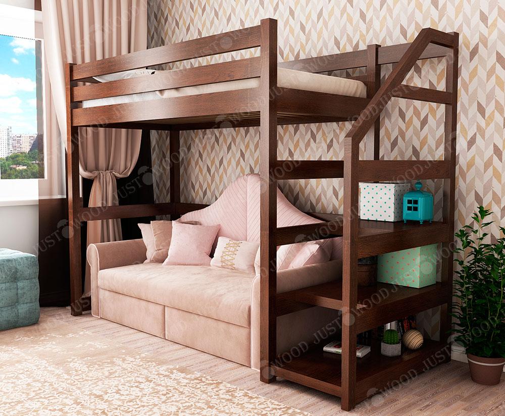 Дитяче ліжко-горище із дерева «Брауні»